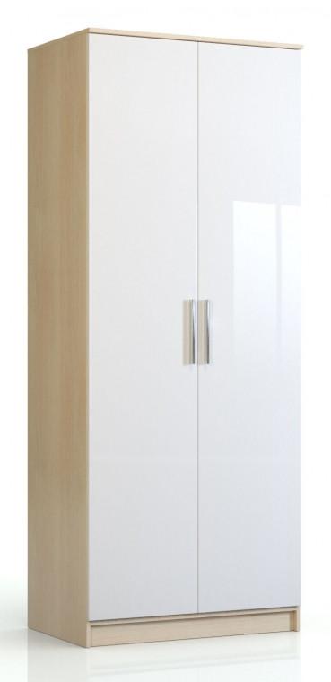 Шкаф 2-х дверный Николь СВ-543 Дуб кремона / Глянец белый