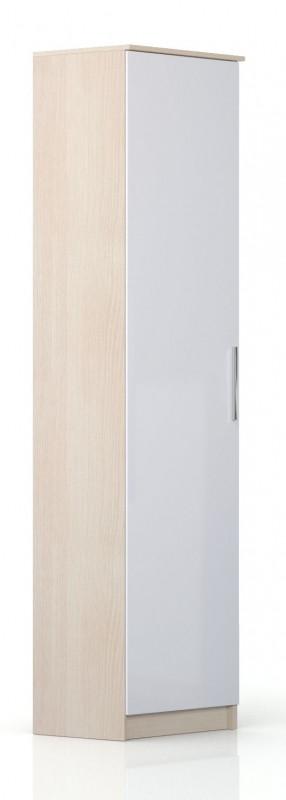 Шкаф торцевой Николь СВ-546 левый Дуб кремона / Глянец белый