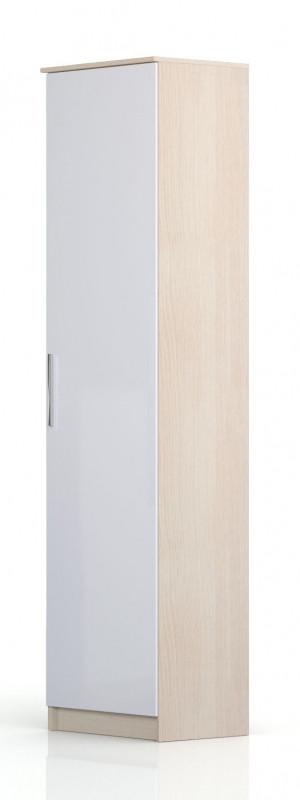 Шкаф торцевой Николь СВ-546 правый Дуб кремона / Глянец белый