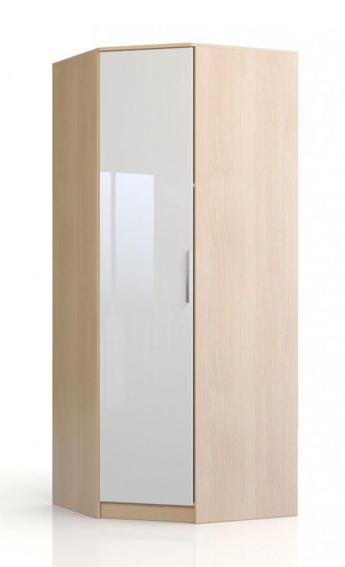 Шкаф угловой Николь СВ-545 Дуб кремона / Глянец белый