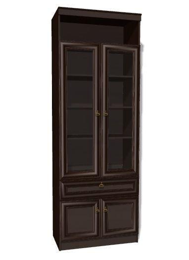 Инна 611 Шкаф для книг Денвер темный