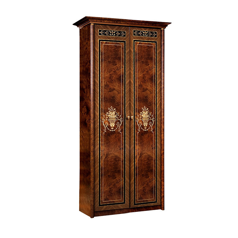 Шкаф двухдверный для платья Карина-3 Орех