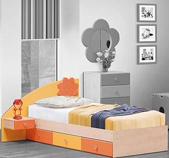 Солнышко Кровать с ладе с ящиками