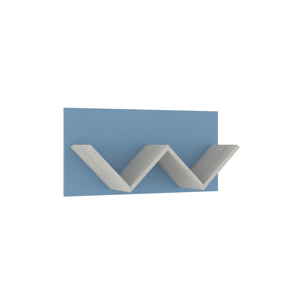 Тетрис 1 307 Полка двойная Дуб Белый / Синий