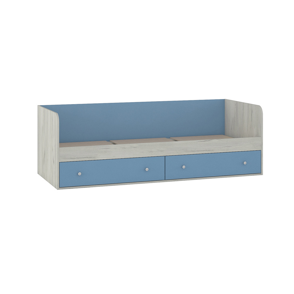 Тетрис 1 347 Кровать Дуб Белый / Синий