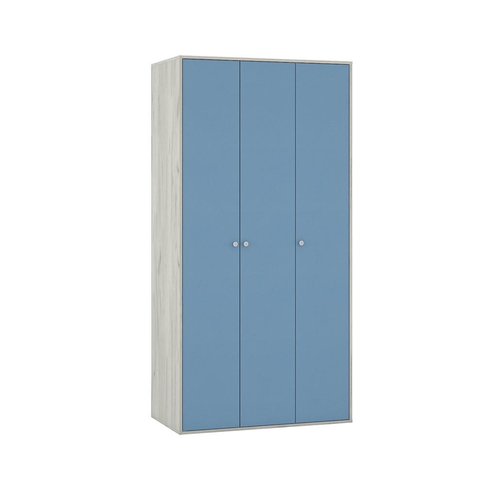 Тетрис 1 357 Шкаф Дуб Белый / Синий