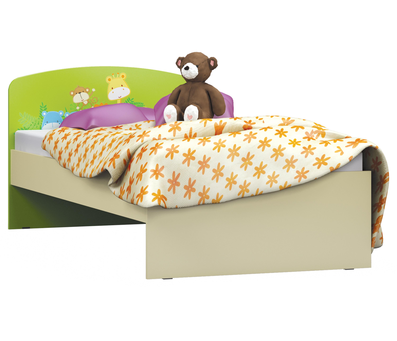 Денди-Тропик СБ-1416-1 Кровать Ваниль / Зеленый лимон