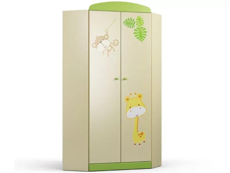 Денди-Тропик СБ-1424 Шкаф угловой Ваниль / Зеленый лимон