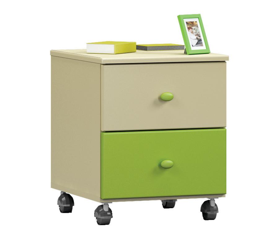 Денди-Тропик СБ-1419 Тумба прикроватная Ваниль / Зеленый лимон