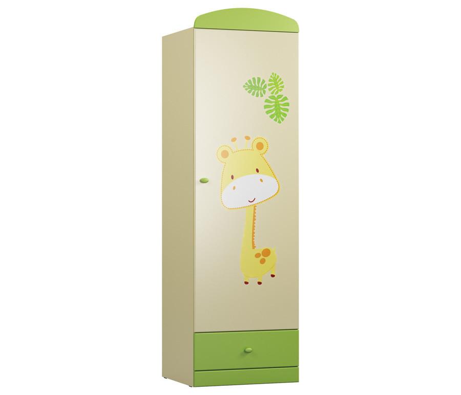 Денди-Тропик СБ-1423 Шкаф однодверный Ваниль / Зеленый лимон