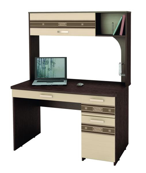 Компьютерный стол Орион 7.10 Венге / Беленый Дуб