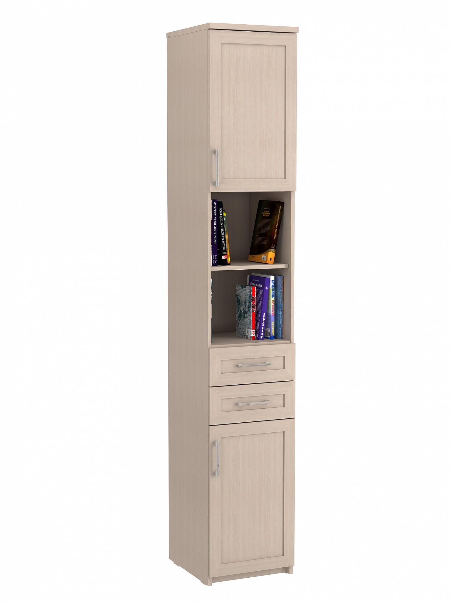 Соло 040 Шкаф с двумя ящиками Дуб Молочный