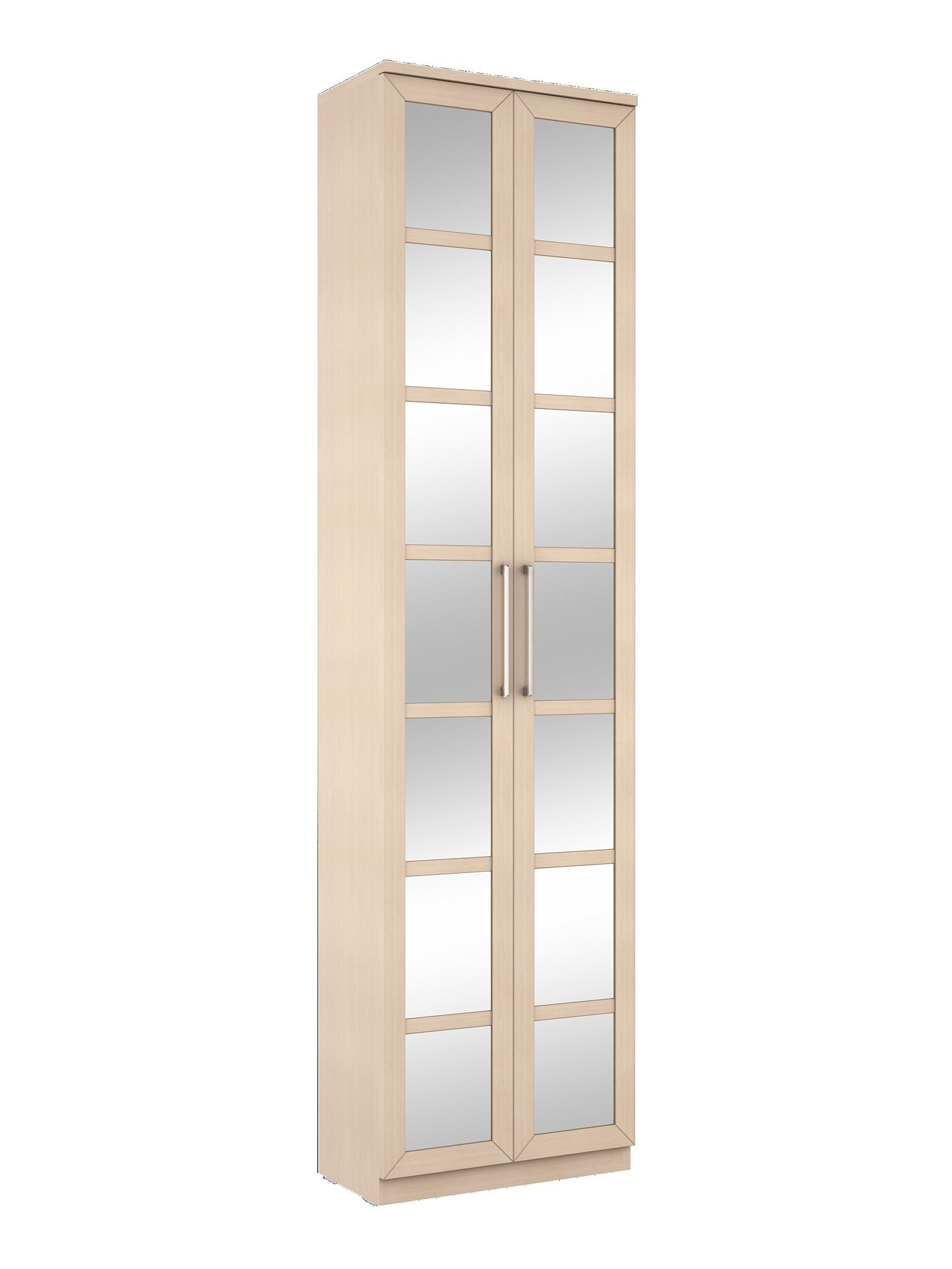 Соло 058 Шкаф платяной фасады зеркало Дуб Молочный