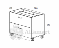 1.10 Стол рабочий с 2 ящиками 800 (8 кат.)
