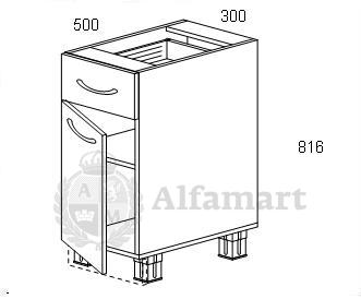 1.30 Стол рабочий с 1 ящиком 300 (4 кат.)