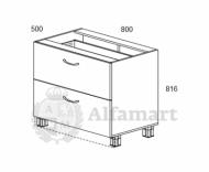 1.10 Стол рабочий с 2 ящиками 800 (4 кат.)