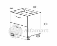 1.16 Стол рабочий с 2 ящиками 600 (1 кат.)