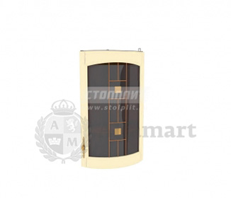 Регина РПТК-30 полка торцевая с гнутой витриной