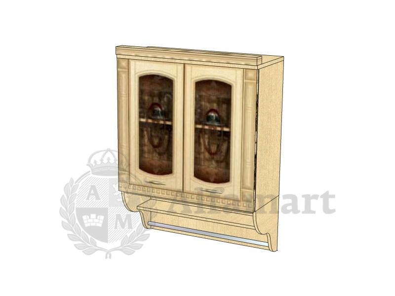 Шкаф-витрина с колоннами арт. 03.11