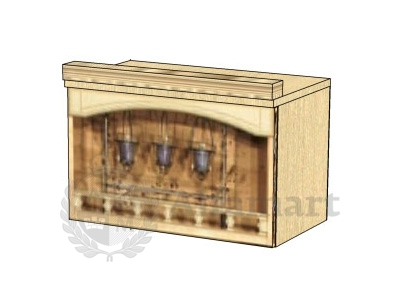 Шкаф-ниша над вытяжкой 60 арт. 03.15