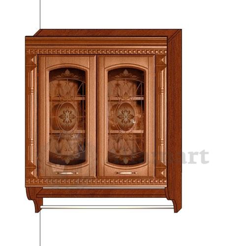 Шкаф-витрина с колоннами арт. 06.11