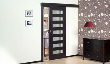 Раздвижные одностворчатые двери