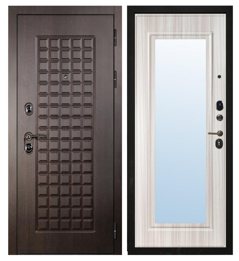 Дверь Sidoorov S 100 Венге / Зеркало Макси Сандал белый