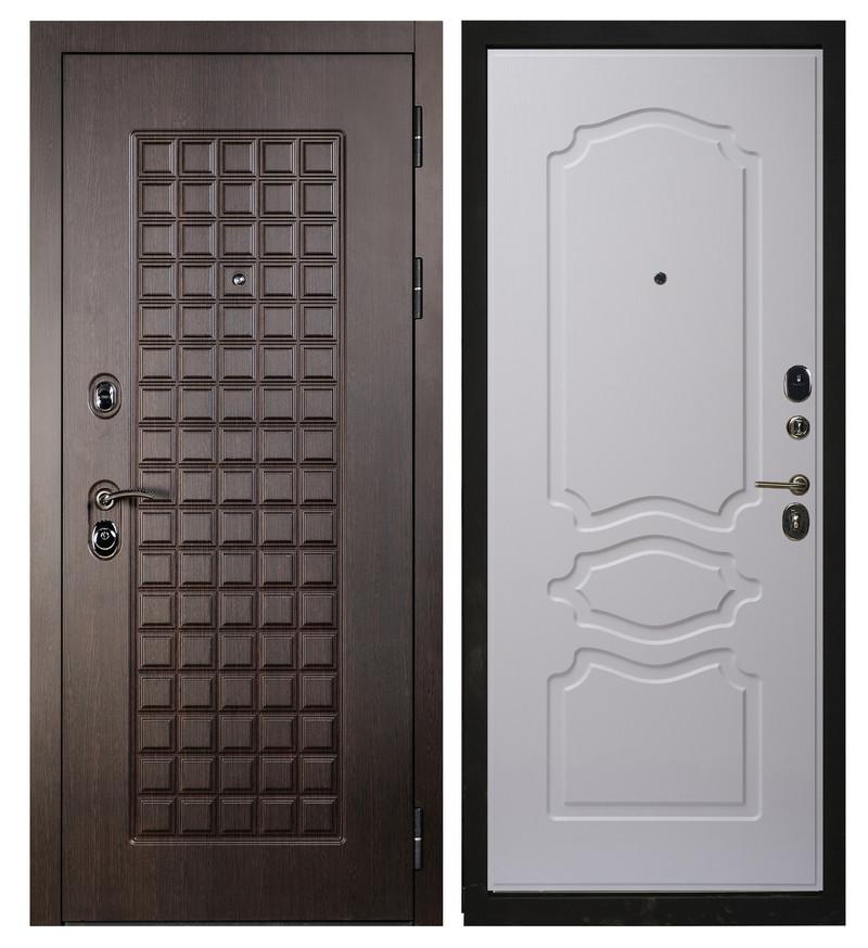 Входная дверь Sidoorov S 100 Венге / Женева Люкс Ясень белый