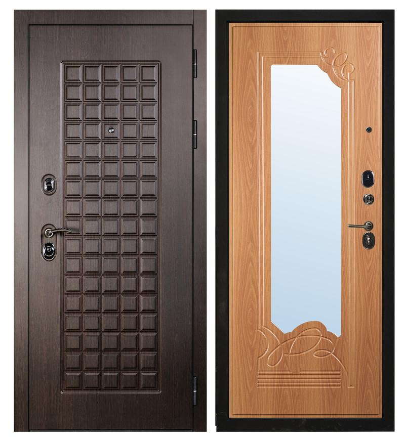Дверь Sidoorov S 100 Венге / Ольга Зеркало Миланский орех