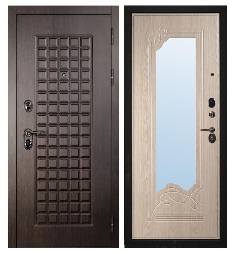 Дверь Sidoorov S 100 Венге / Ольга Зеркало Беленый дуб