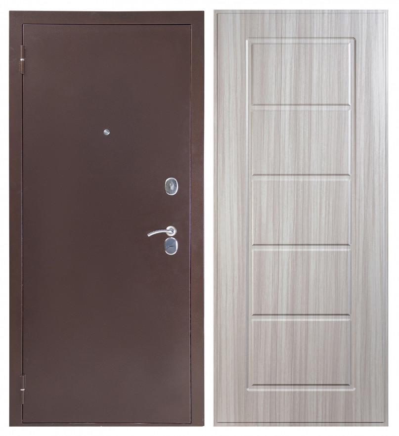 Входная дверь Sidoorov S 80 3к Антик медь / Ника Сандал белый