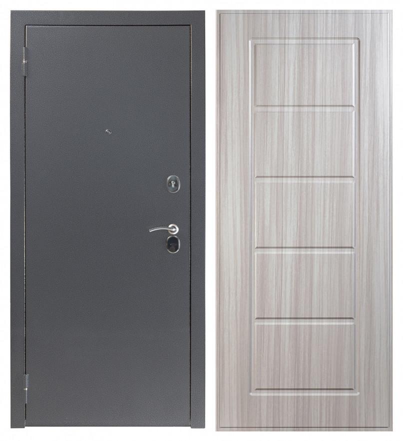 Входная дверь Sidoorov S 80 3к Антик серебро / Ника Сандал белый