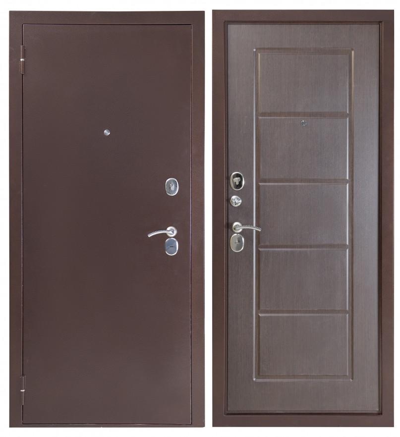 Дверь Sidoorov S 80 3к Антик медь / Ника Венге