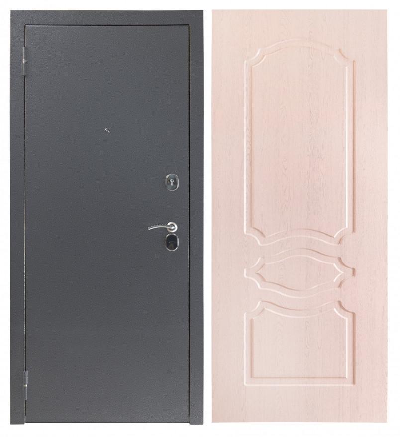 Дверь Sidoorov S 80 3к Антик серебро / Женева Беленый дуб