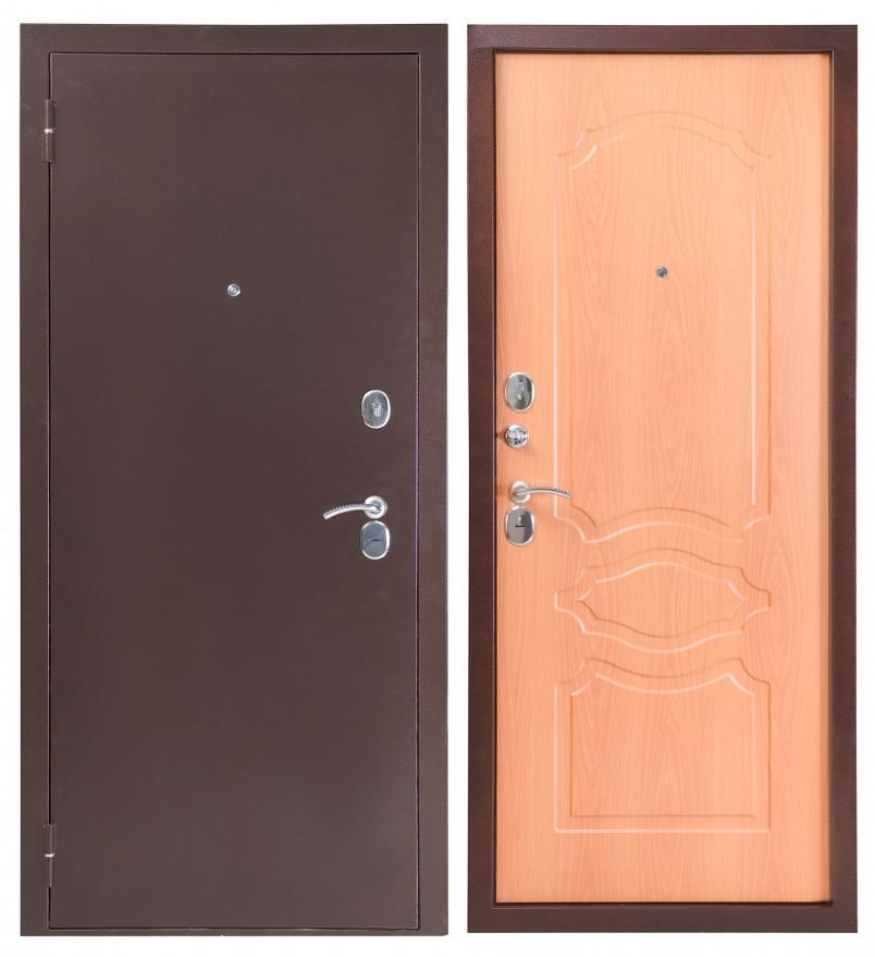 Дверь Sidoorov S 80 3к Антик медь / Женева Миланский орех