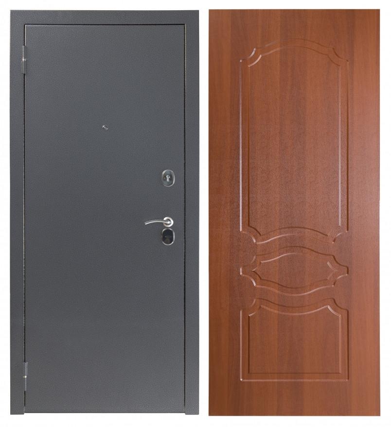 Дверь Sidoorov S 80 3к Антик серебро / Женева Итальянский орех