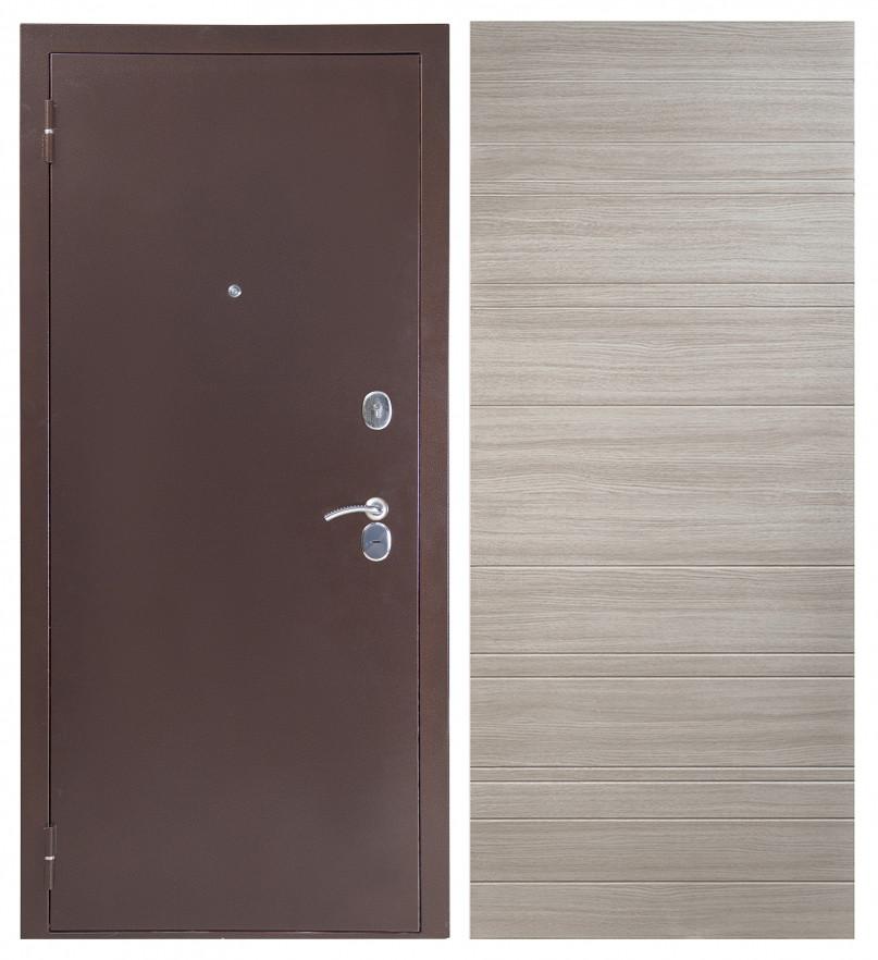 Дверь Sidoorov S 80 3к Антик медь / Акация светлая горизонт