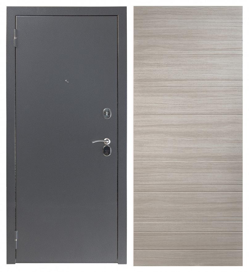 Входная дверь Sidoorov S 80 3к Антик серебро / Акация светлая горизонт