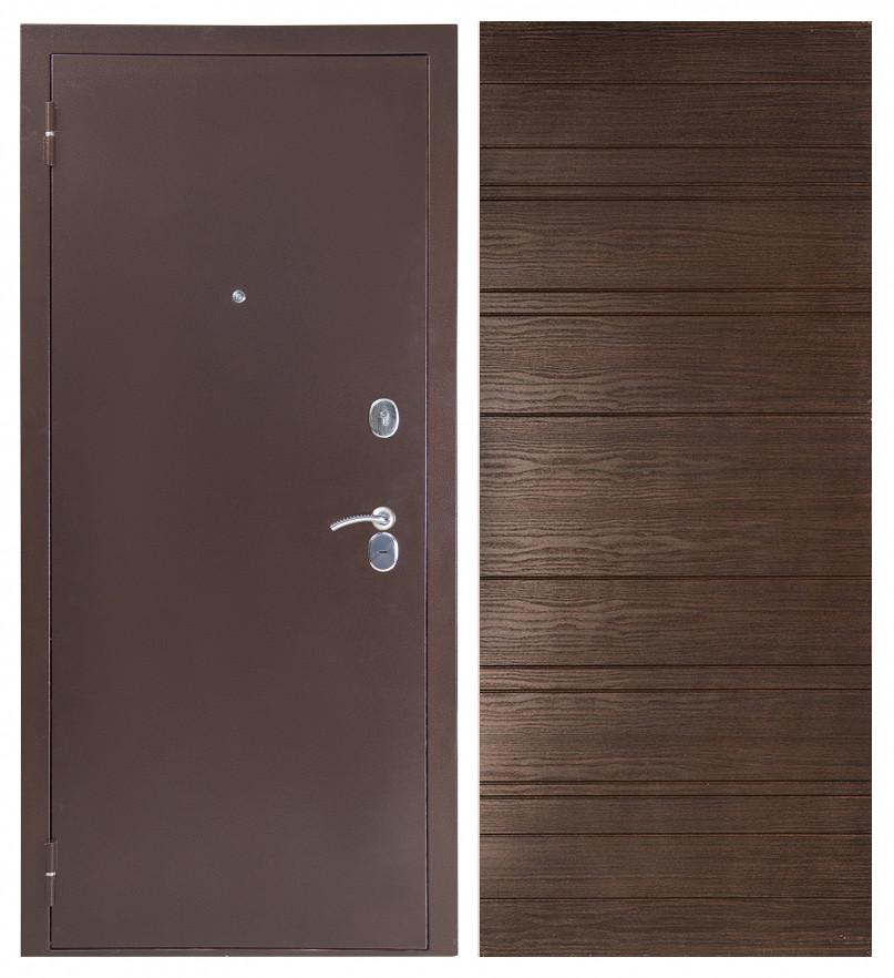 Входная дверь Sidoorov S 80 3к Антик медь / Венге горизонт
