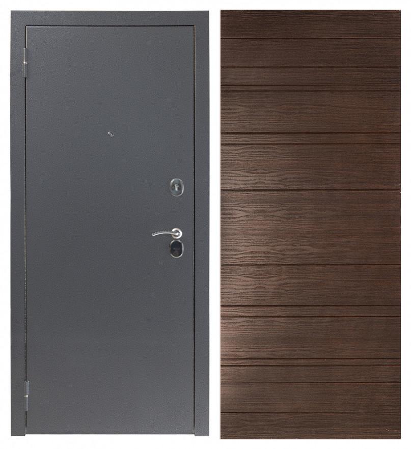 Входная дверь Sidoorov S 80 3к Антик серебро / Венге горизонт
