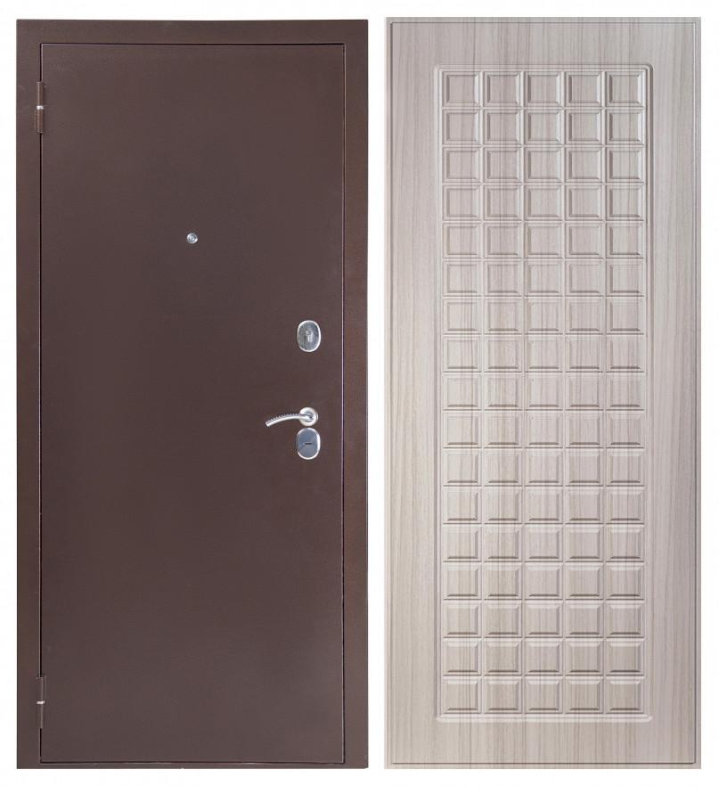 Входная дверь Sidoorov S 80 3к Антик медь / Квадро сандал молочный