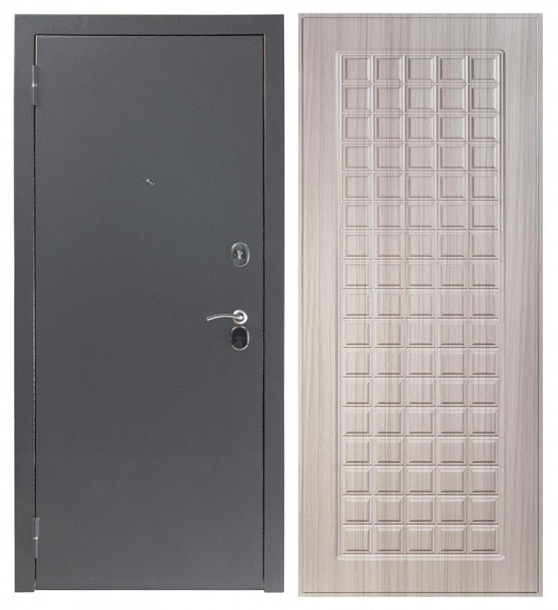 Входная дверь Sidoorov S 80 3к Антик серебро / Квадро сандал молочный