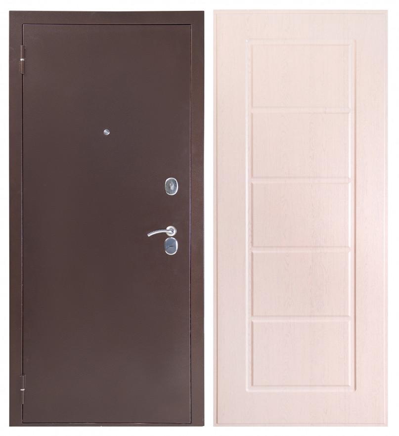 Дверь Sidoorov S 80 3к Антик медь / Ника Беленый дуб