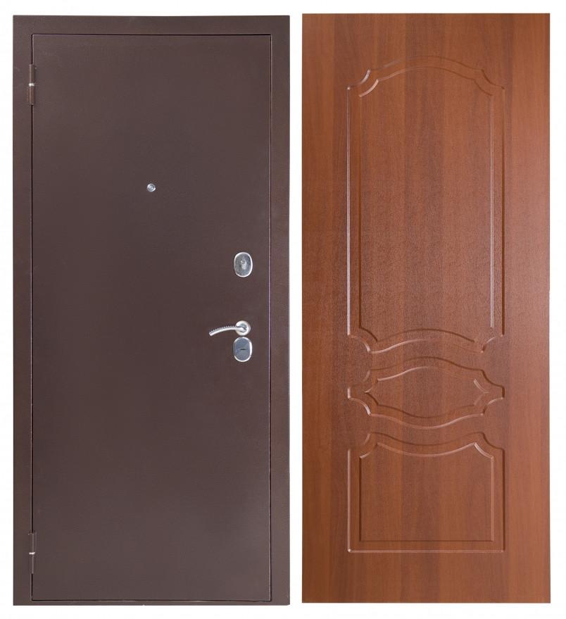 Дверь Sidoorov S 80 3к Антик медь / Женева Итальянский орех