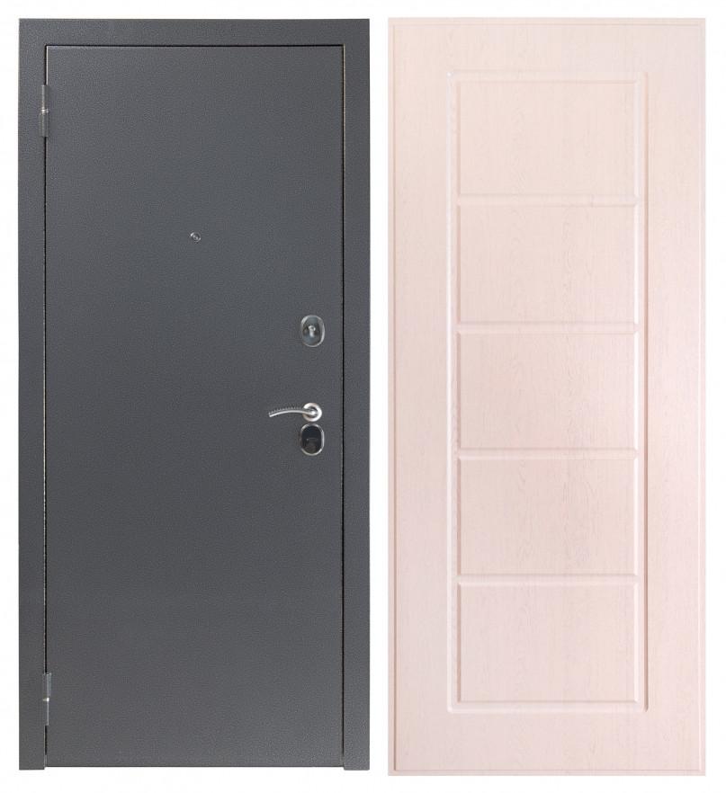 Дверь Sidoorov S 80 3к Антик серебро / Ника Беленый дуб