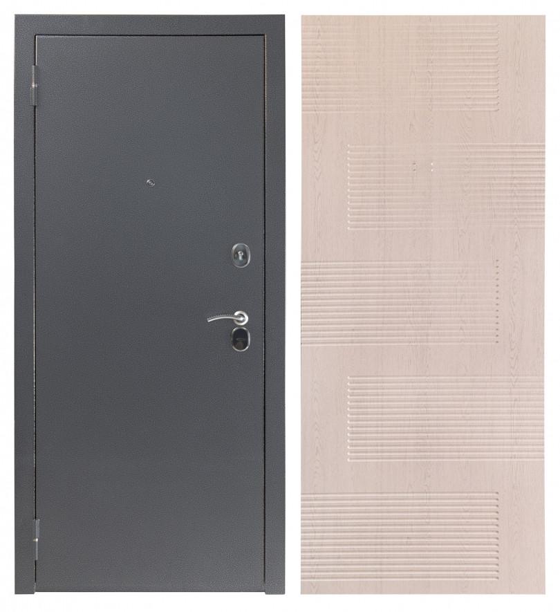 Входная дверь Sidoorov S 80 3к Антик серебро / Спарта Беленый дуб