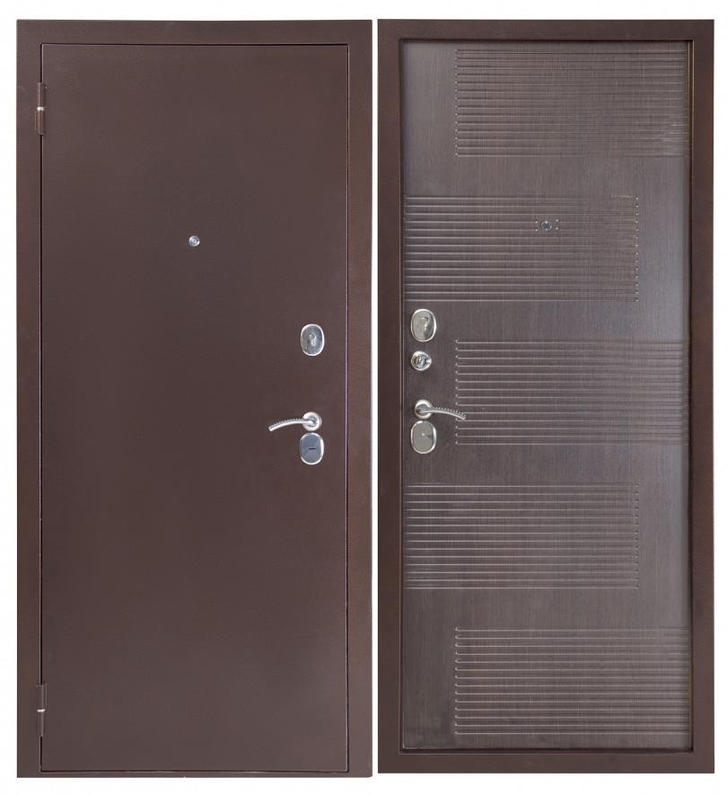Входная дверь Sidoorov S 80 3к Антик медь / Спарта Венге