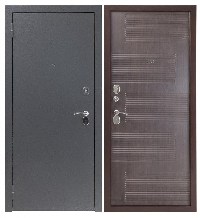 Входная дверь Sidoorov S 80 3к Антик серебро / Спарта Венге