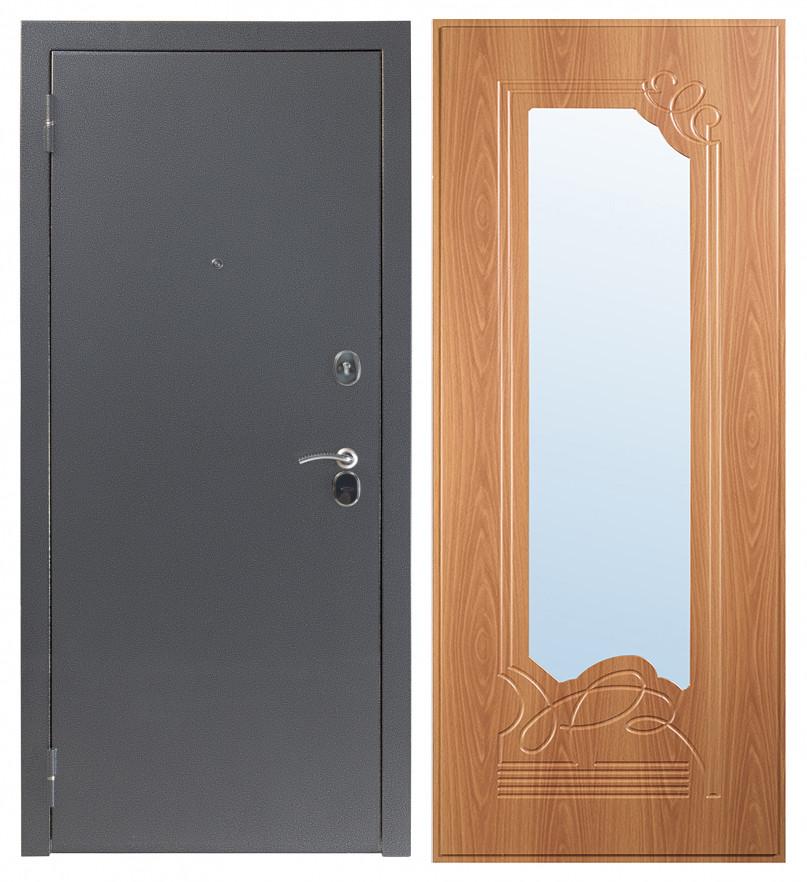 Входная дверь Sidoorov S 80 3к Антик серебро / Ольга Миланский орех