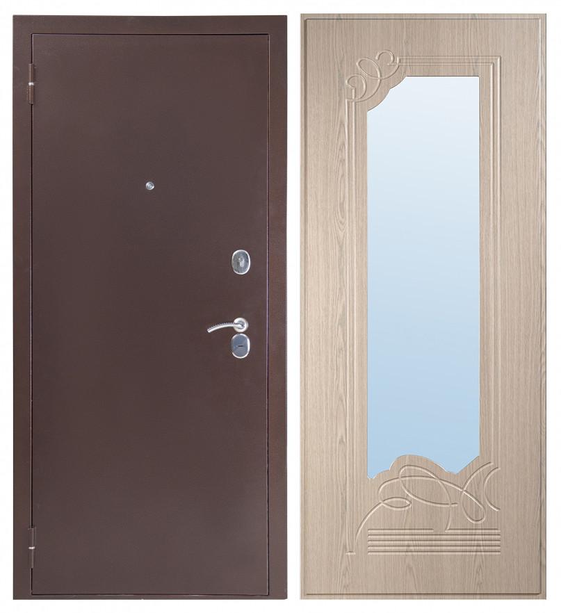 Входная дверь Sidoorov S 80 3к Антик медь / Ольга Беленый дуб